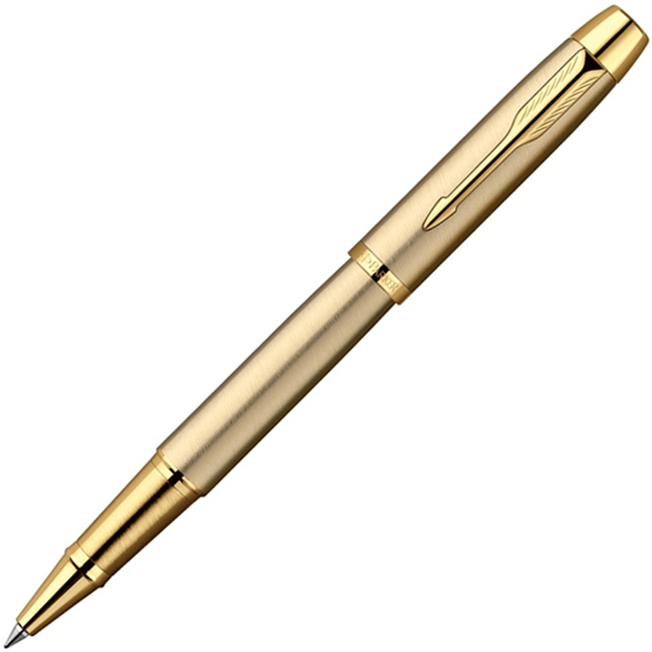 PARKER IM - BRUSHED METAL GOLD GT, РУЧКА-РОЛЛЕР